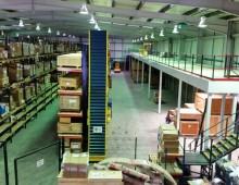 mezzanine with cantilever rack