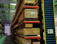 Cantilever racking aisle