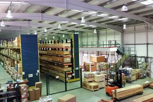 Double up Mezzanine and Cantilever Racking Project in Leeds Bradford