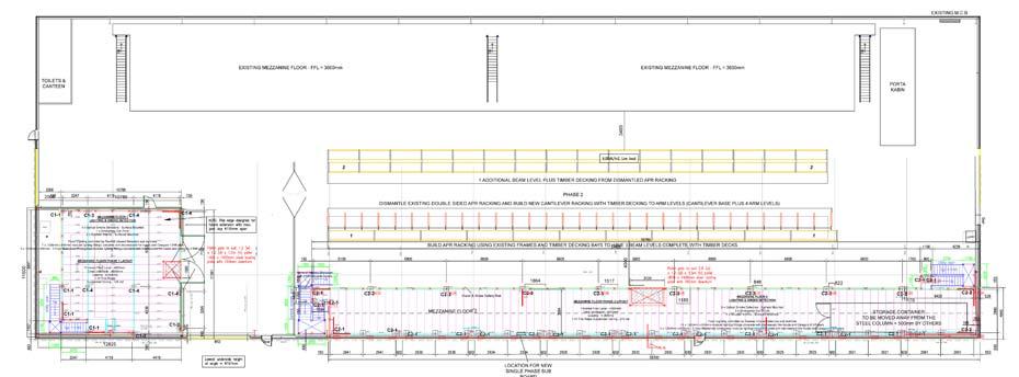 Mezzanine Floor Cantilever Racking Plan