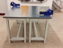 Stainless steel worktop workbenches
