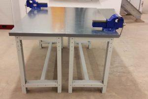 Stainless steel worktop workbenches
