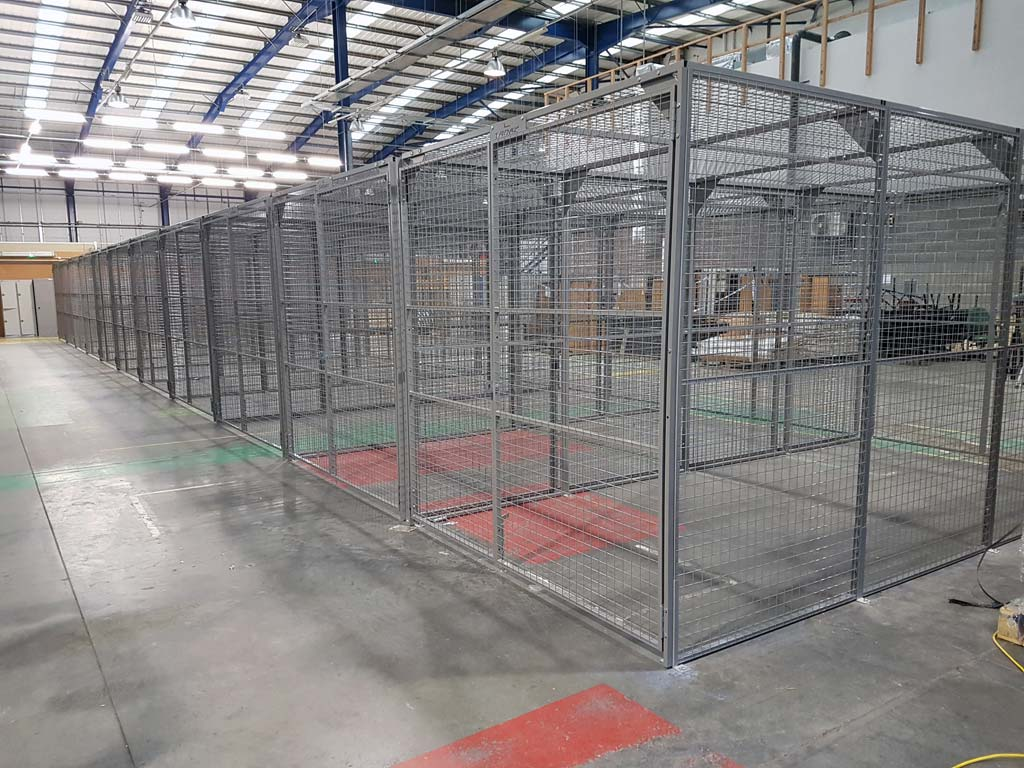 Secure Mesh Cage Project for the Police